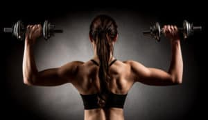 Muskeln Hanteln Sport Magnesium Leistung Einnahme