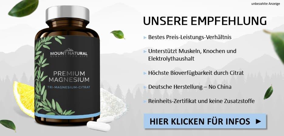 Unsere Empfehlung: Premium Magnesium